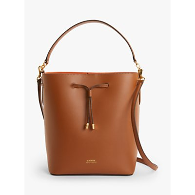 Lauren Ralph Lauren Dryden Debby Leather Medium Bucket Bag