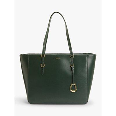 Lauren Ralph Lauren Leather Tote Bag, Racing Green