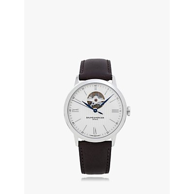5052210014259 | Baume et Mercier M0A10539 Men s Classima Automatic Heartbeat Leather Strap Watch  Brown Silver