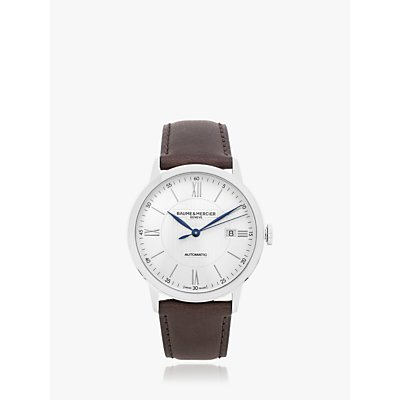 5052210014266 | Baume et Mercier M0A10540 Men s Classima Automatic Date Leather Strap Watch  Brown White