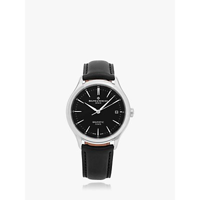 5052210014228 | Baume et Mercier M0A10535 Men s Clifton Baumatic Automatic Date Leather Strap Watch  Black