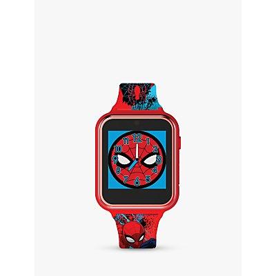 Disney Spiderman SPD4588 Children's Interactive Silicone Strap Watch, Red/Blue