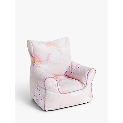 little home at John Lewis Magical Unicorn Bean Bag Chair  Pink 5059139351304
