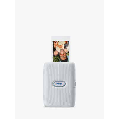 Fujifilm Instax mini Link Mobile Photo Printer, Ash White