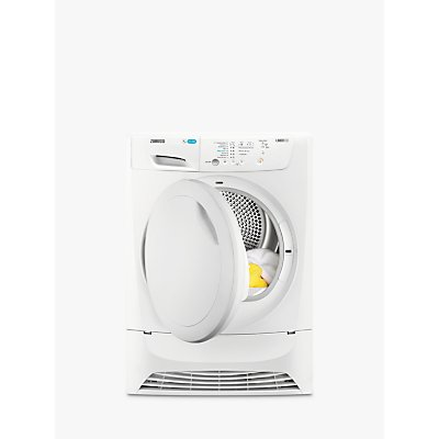 Zanussi ZDP7207PZ Condenser Tumble Dryer, 7kg Load, B Energy Rating, White