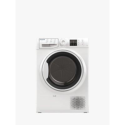 Hotpoint NTM1081WKUK Heat Pump Tumble Dryer, 8kg Load, A+ Energy Rating, White