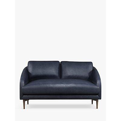 John Lewis & Partners Cape Small 2 Seater Leather Sofa, Dark Leg