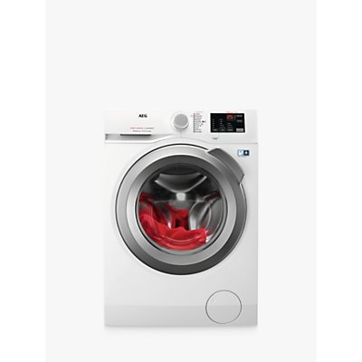 AEG L6FBI842N Freestanding Washing Machine, 8kg Load, A+++ Energy Rating, 1400rpm Spin, White