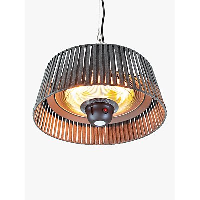 KETTLER Kalos Plush Hanging Pendant Electric Patio Heater  Grey - 5057229743121