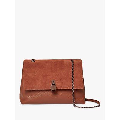 Ted Baker Hermiaa Padlock Detail Leather Shoulder Bag