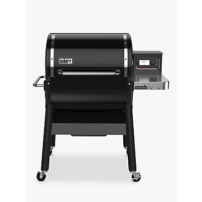 Weber SmokeFire GBS Wood Fired Pellet BBQ, Black, 60cm