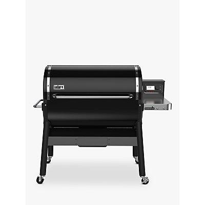 Weber SmokeFire GBS Wood Fired Pellet BBQ, Black, 90cm