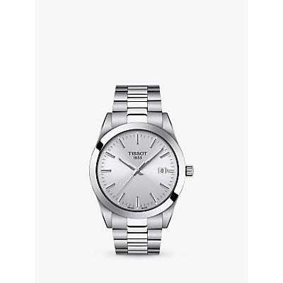 Tissot Men s Gentleman Date Bracelet Strap Watch - 7611608292792