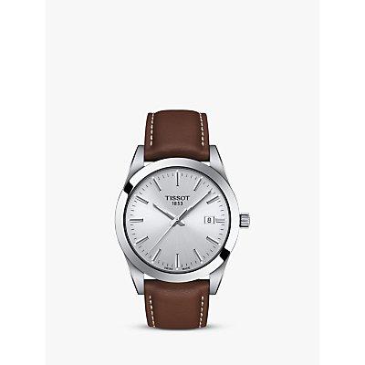 Tissot Men s Gentleman Date Leather Strap Watch - 7611608292761