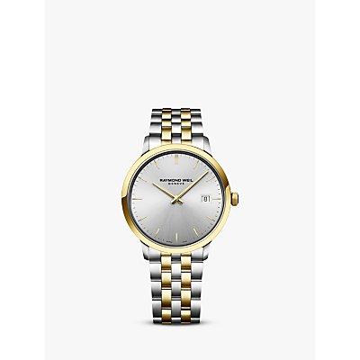 Raymond Weil 5485 STP 65001 Men s Toccata Date Bracelet Strap Watch  Silver Gold - 7611784046905
