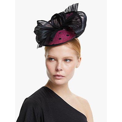 John Lewis & Partners Thea Polka Dot Bow Disc Fascinator