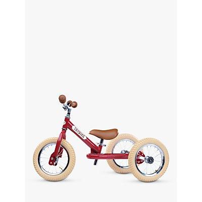 Trybike 2-in-1 Vintage Balance Trike, Red