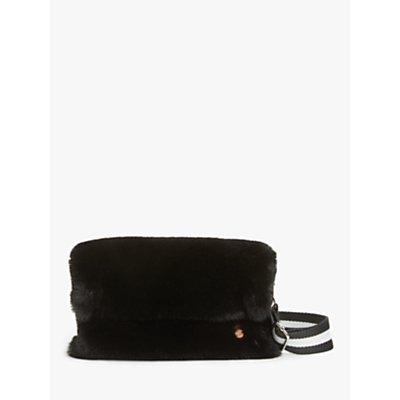 Unmade Jennabel Faux Fur Cross Body Bag, Black