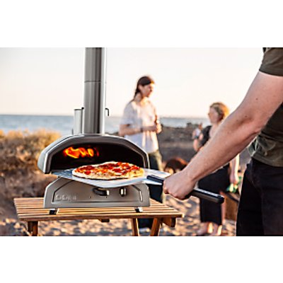 Ooni Fyra Portable Outdoor Pizza Oven, Black/Silver