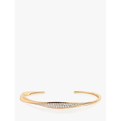 Sif Jakobs Jewellery Cubic Zirconia Open End Bangle  Gold - 5710698067678