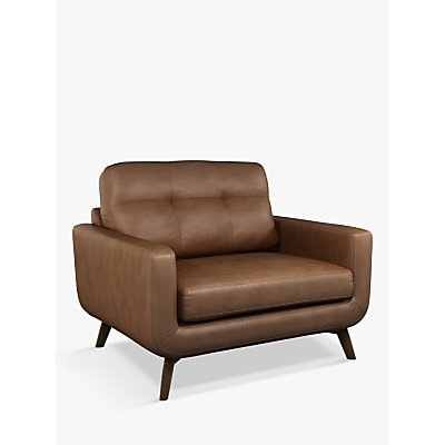 John Lewis & Partners Barbican Leather Snuggler, Dark Leg
