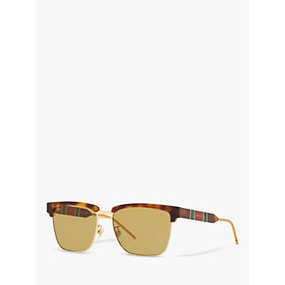 Gucci GG0603S Men s Rectangular Sunglasses  Tortoise Yellow - 889652255590