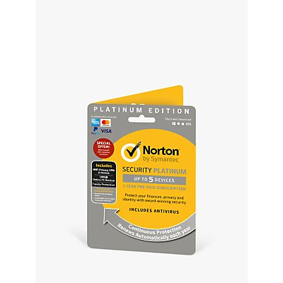 Norton Security Platinum 2019  Multi Device Antivirus and Firewall Software  1 Year Subscription - 5397039095202