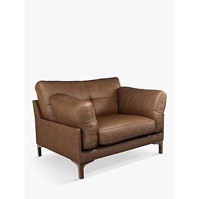 John Lewis & Partners Java II Leather Armchair, Dark Leg