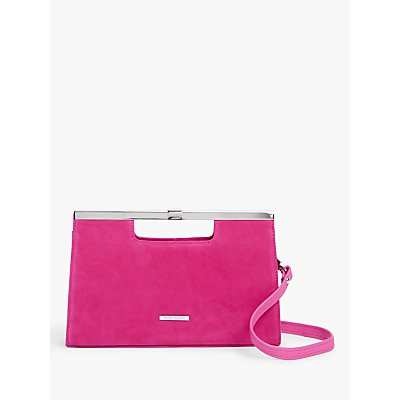 Peter Kaiser Wye Suede Clutch Bag, Berry