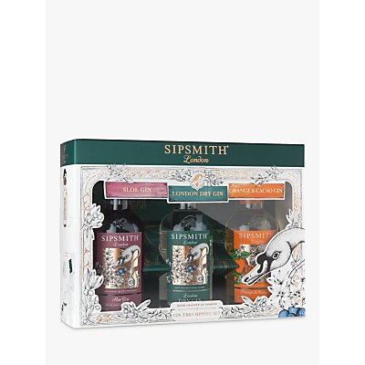 Sipsmith Gin Gift Set, 3x 20cl