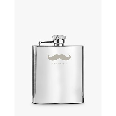 Treat Republic Personalised Stainless Steel Hip Flask, 700ml
