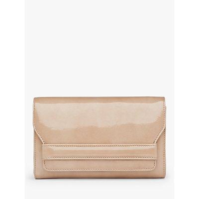 L.K.Bennett Ella Mini Leather Clutch Bag, Beige