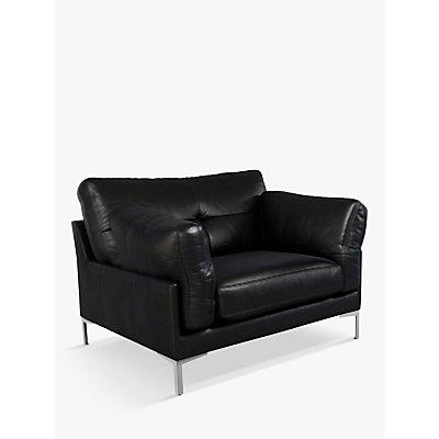 John Lewis & Partners Java II Leather Armchair, Metal Leg