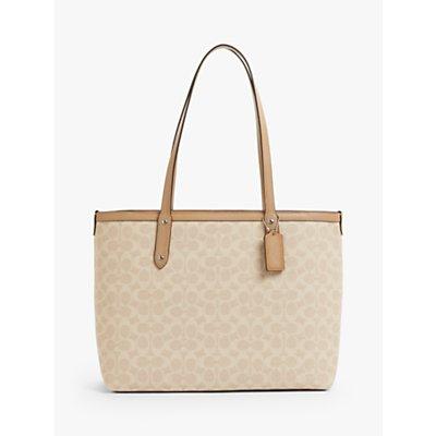 Coach Signature Central Zip Top Tote Bag