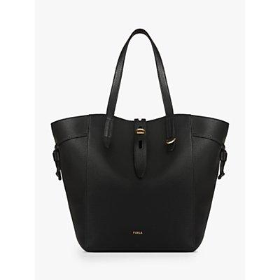 Furla Net Large Leather Tote Bag, Nero
