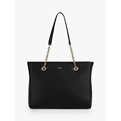 Furla Swing Leather Tote Bag, Nero