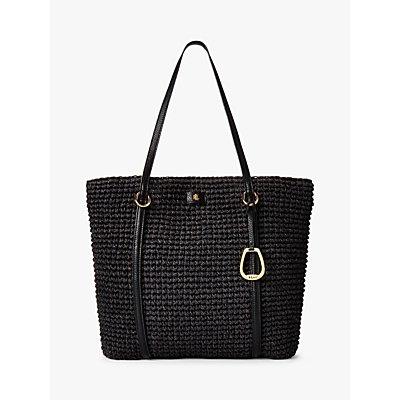 Lauren Ralph Lauren Large Crochet Tote Bag