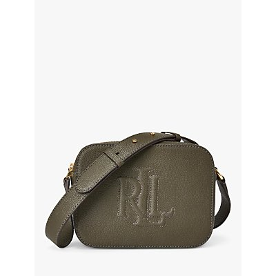 Lauren Ralph Lauren Hayes 20 Leather Camera Bag, Deep Olive