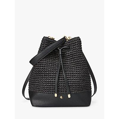 Lauren Ralph Lauren Dryden Debby Crotchet Straw Mini Bucket Bag