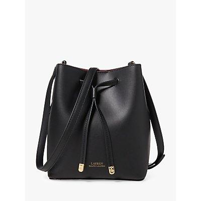 Lauren Ralph Lauren Dryden Debby Leather Mini Bucket Bag, Black