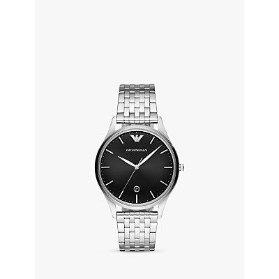 Emporio Armani AR11286 Men s Date Bracelet Strap Watch  Silver Black - 4053858598775