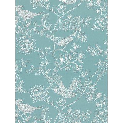 John Lewis & Partners Nightingales Wallpaper, Eucalyptus