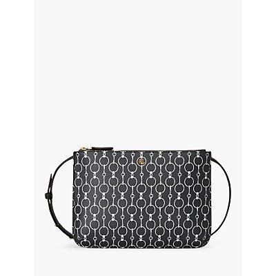 Lauren Ralph Lauren Chadwick Carter 26 Cross Body Bag, Black/White