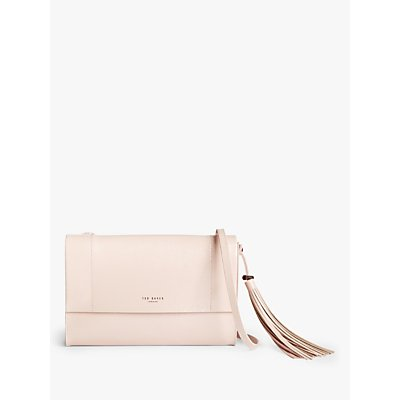 Ted Baker Lailai Leather Cross Body Bag, Nude Pink