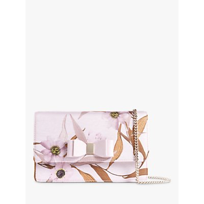 Ted Baker Kaylii Floral Bow Cross Body Bag, Pastel Pink
