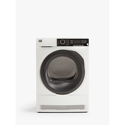 John Lewis & Partners JLTDH25 Heat Pump Freestanding Tumble Dryer, 9kg Load, A++ Energy Rating, Whit