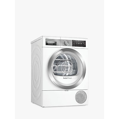 Bosch WTX88EH9GB Heat Pump Tumble Dryer, 9kg Load, A+++ Energy Rating, White