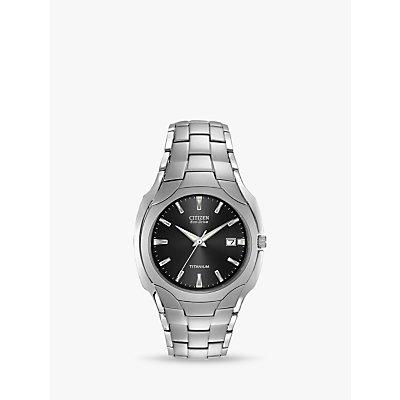 Citizen BM7440 51E Men s Eco Drive Date Titanium Bracelet Strap Watch  Silver Black - 4974374287762