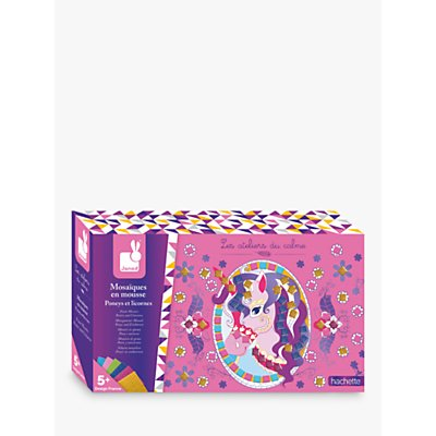 Janod Ponies & Unicorns Foam Mosaics Crafting Kit