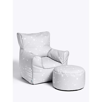 little home at John Lewis Stardust Bean Bag Chair and Stool Set - 5059139771744